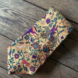 Vintage Barney's David Rappaport Art Silk Tie